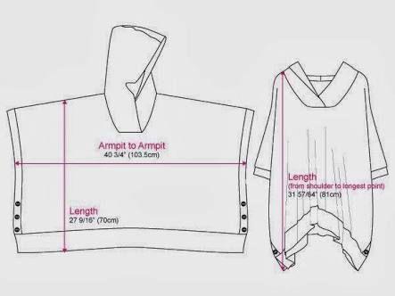 Image result for hooded poncho sewing pattern men   Diy   Pinterest ...