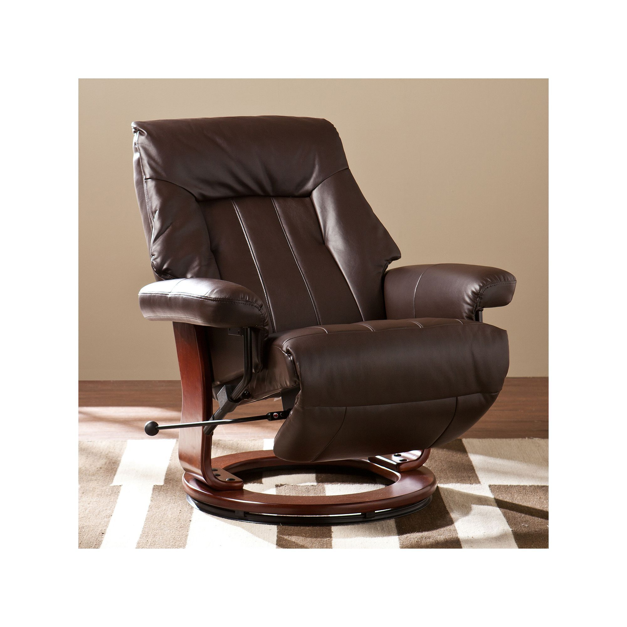 Southern Enterprises Dalian Recliner Brown Furniture Recliner