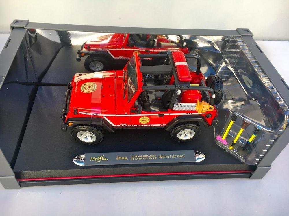 23af1e657d0 Maisto 1/18 36115 Jeep Wrangler Rubicon (Brush Fire Unit) Premiere  Edition~NEW #Maisto #JEEP