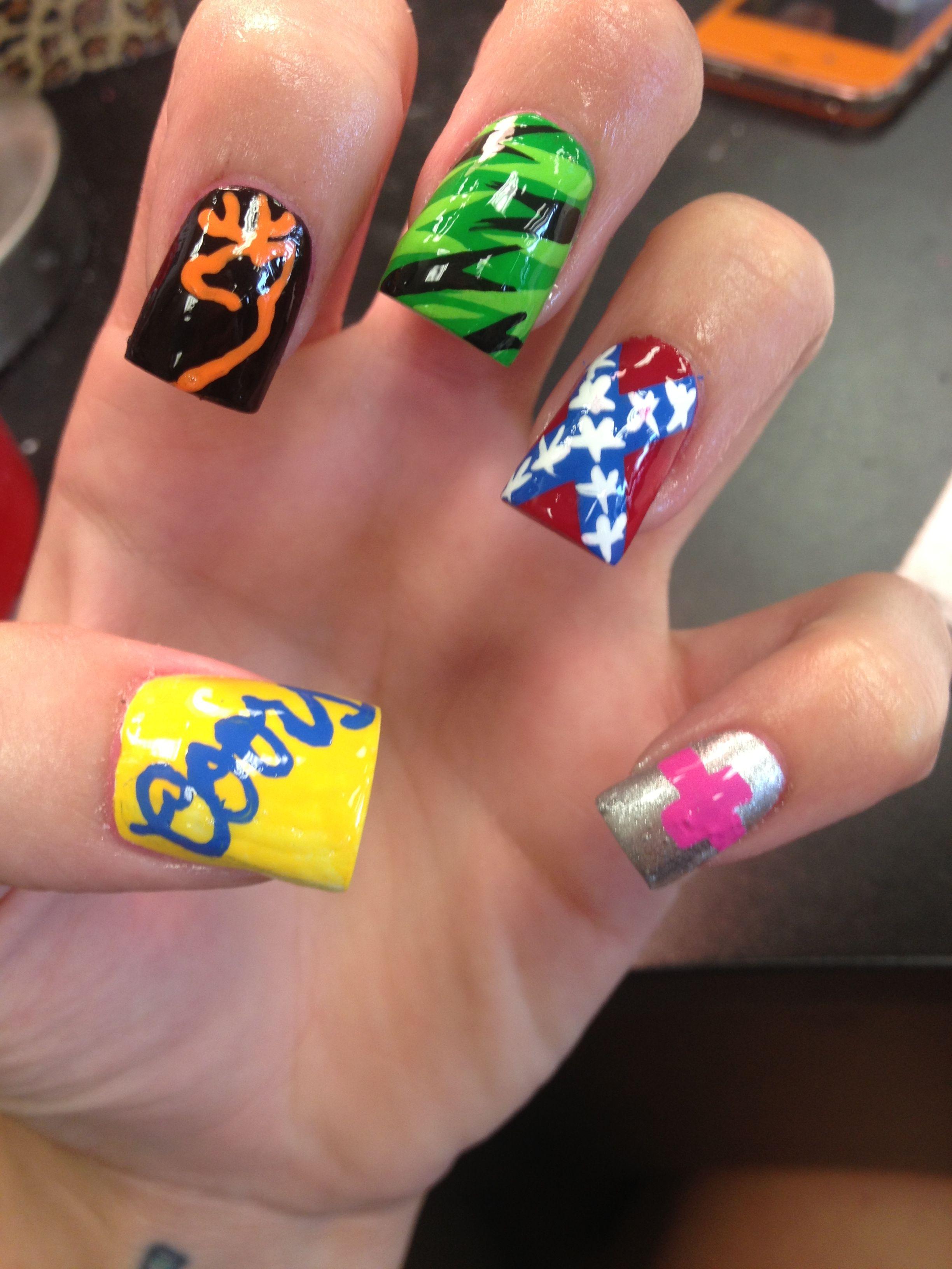 Redneck Nails Nails Make Up Hair Pinterest Redneck Nails