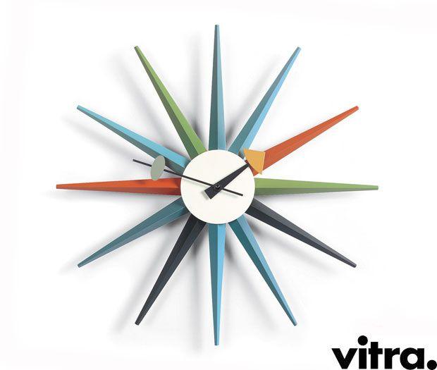 SUNBURST WALL CLOCK - George Nelson VITRA Forniture\co - moderne wohnzimmer uhren