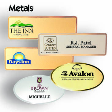 name tags in metal frosted finishes metal name tags are frosted