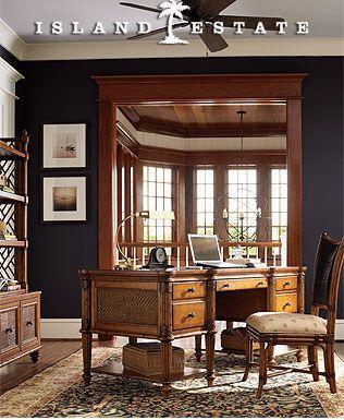 Superbe Home Office Furniture/Office Desks   Tommy Bahama Island Estate Fraser  Island Desk