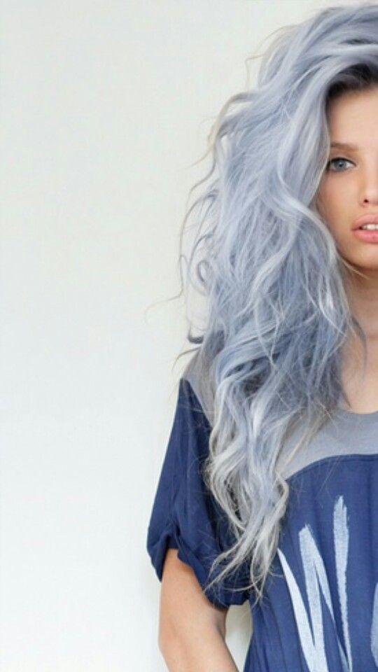 coloration cheveux gris bleu