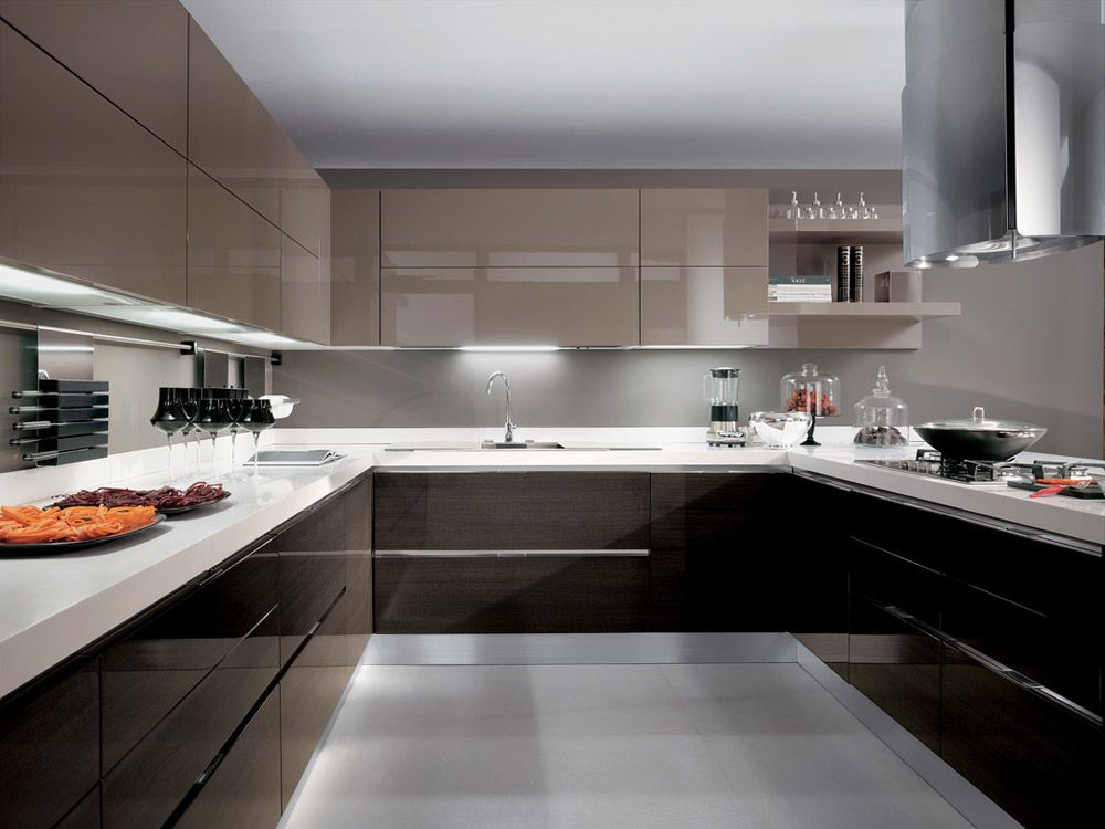 Mobili per cucina cucina scenery b da scavolini casa for Cucine moderne scure