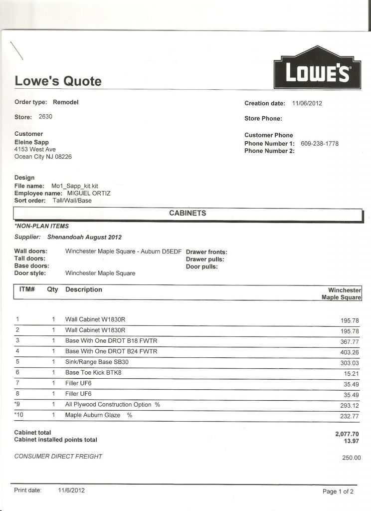 Kitchen Cabinet Invoice And New Estimate Kitchen Cabinet Invoice