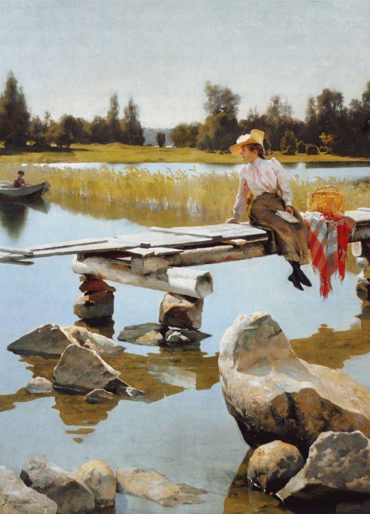 Gunnar Berndtson (1854-1895) Kesä / Summer 1893 - Finland