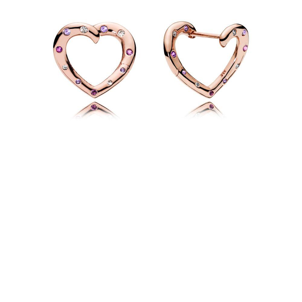 Boucles d'oreilles Créoles Cœurs Lumineux | Pandora jewelry ...