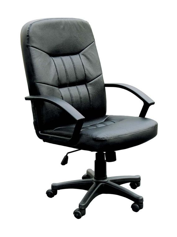 Good Jason Black Bonded Leather Nylon Office Chair W/Pneumatic Lift ( L 25 X W  27 X H 46 )   By Acme Furniture
