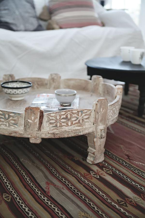 Bon Beautiful Light Wood Washed Coffee Table..ethnic ..Helt Enkelt   Chakki  Table