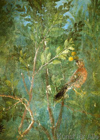 Cuadro en lienzo: akg anonymous birds in lemon tree/fresco