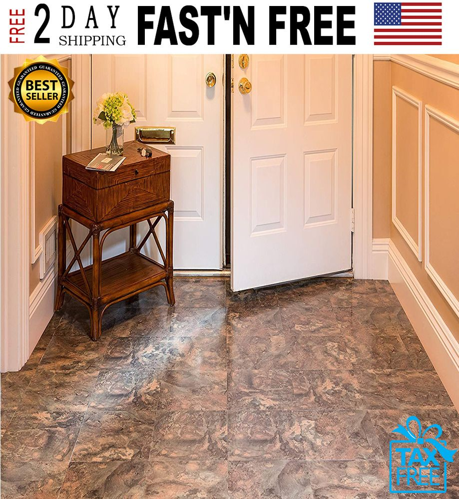 Vinyl Floor Tiles 12 X 12 Marble Granite Self Adhesive 20 Pack Peel And Stick Achimhomefurnishings Granite Flooring Vinyl Flooring Flooring