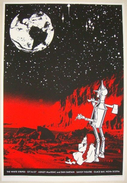 2007 The White Stripes - Glace Bay Concert Poster by Rob Jones