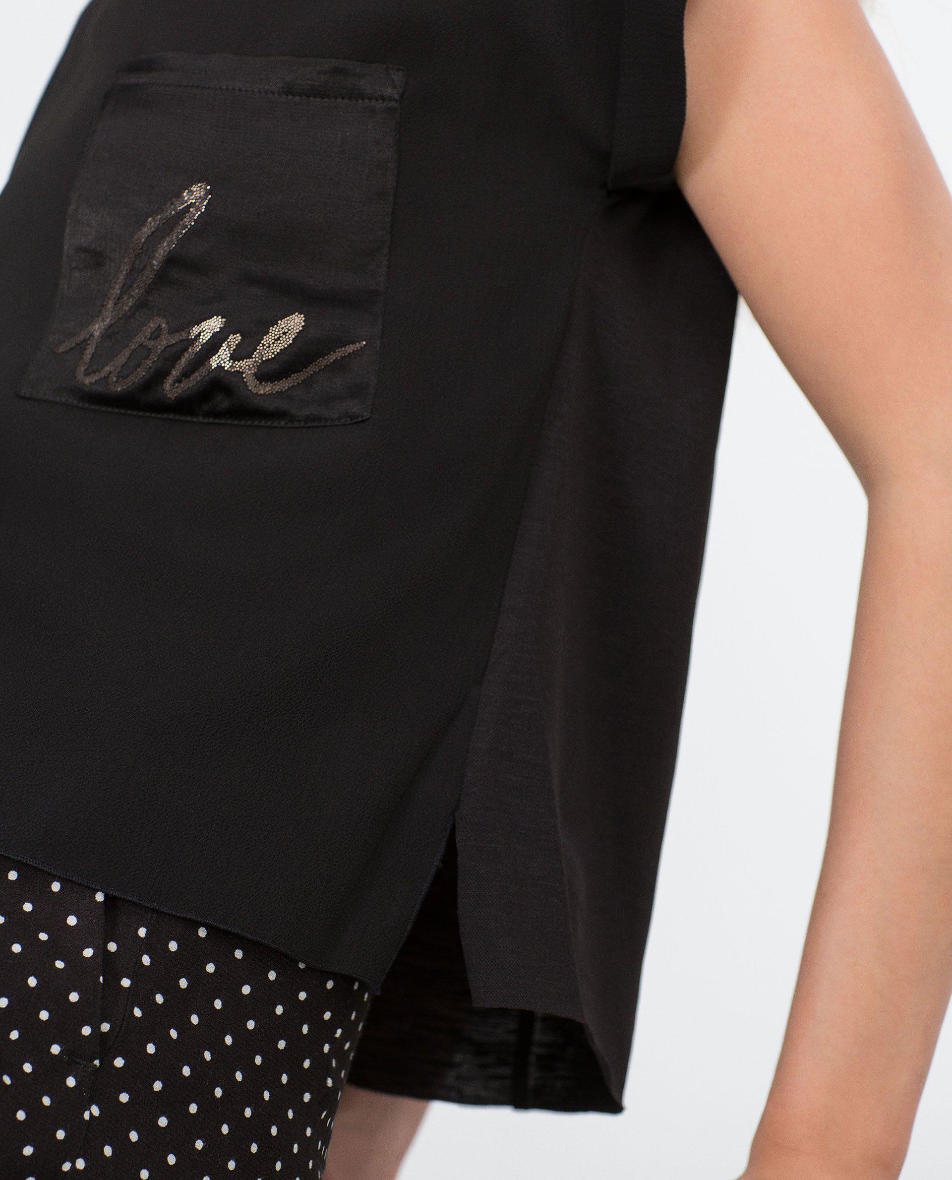TEXT T - SHIRT - Plain - T - shirts - WOMAN   ZARA United Kingdom