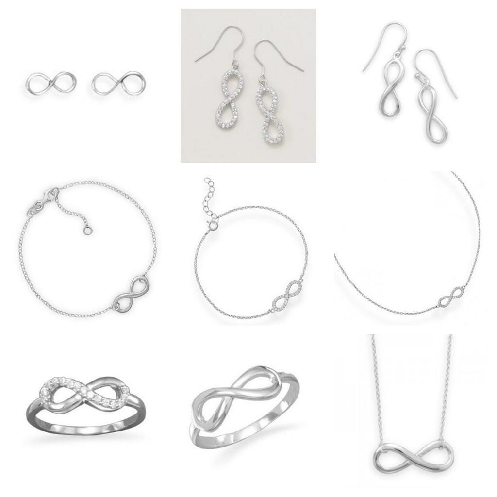 Nearly two Dozen Different Infinity Jewelry Designs at Salernos