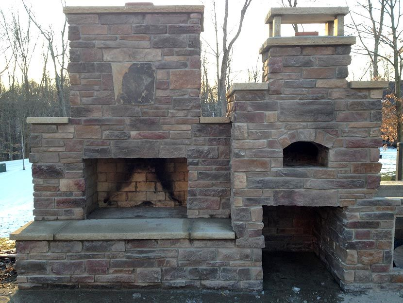 Combo Oven And Fireplace Some Day In 2019 Brick Oven