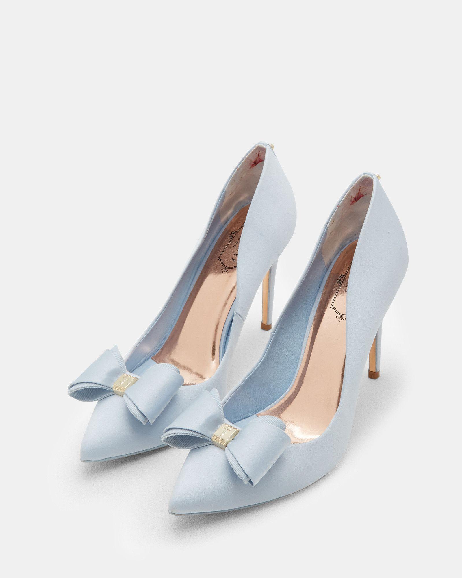 plus tard rabais de premier ordre trouver le prix le plus bas Escarpins satinés avec nœud - Bleu clair   chaussures   Ted ...