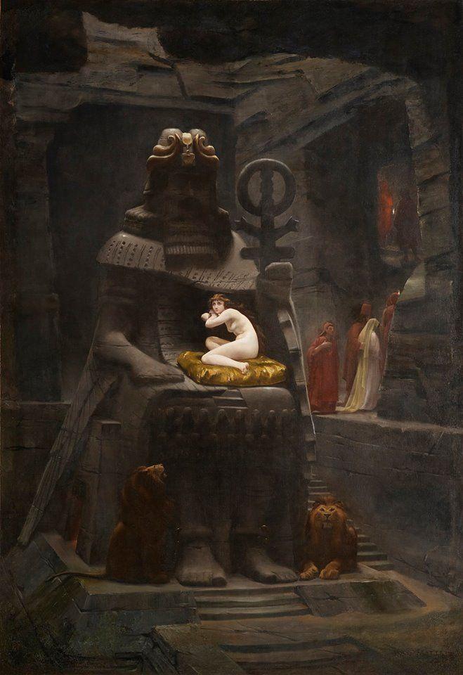 Henri Motte 1846 1922 La Fiancee De Belus The Bride Of Belus 1885 Classic Art Painting Art Painting