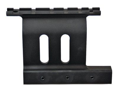 AK47, Saiga, Dragunov Side Rail Picatinny Scope Mount Black by ProMag. $38.35. Description:Picatinny Scope MountMount attaches directly to AK-47 type rifle with the attaching iron of the left hand side of the receiver. Mount is locked in place by three Allen head screws. the screws draw the mount against the rifle scope rail. Mount is designed to hold zero after removal. Mount is designed so that the iron sights and the scope may both be used. Accepts Weaver style rings on the P...