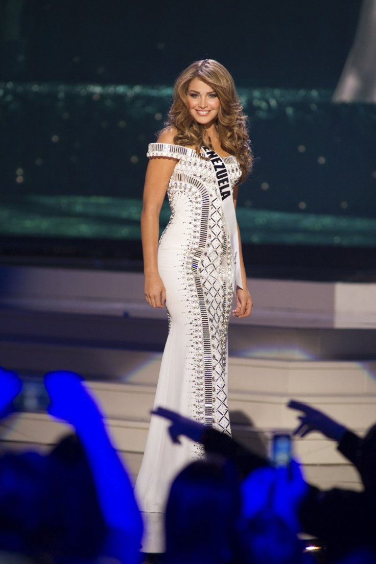 Migbelis Castellanos, Miss Venezuela 2014 competes on stage in her evening gown during the Miss Universe Preliminary Show in Miami, Florida on January 21, 2015.