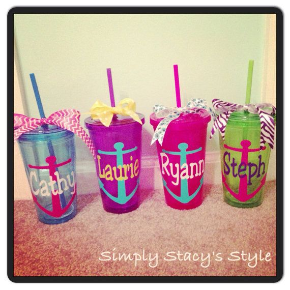 Anchor Monogram Tumbler by SimplyStacysStyle on Etsy, $12.00