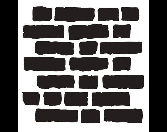 Rough Bricks - Pattern Stencil- Select Size - STCL703 - by StudioR12 #scentsylaborday