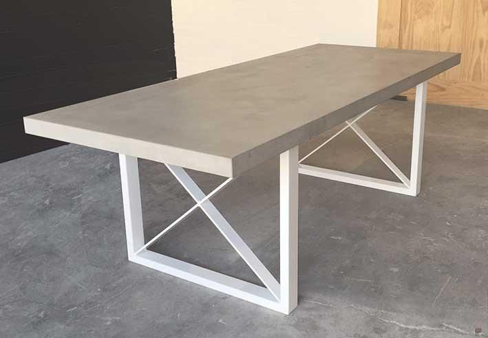 Polished Concrete Metro Dining Table Concrete Dining Table