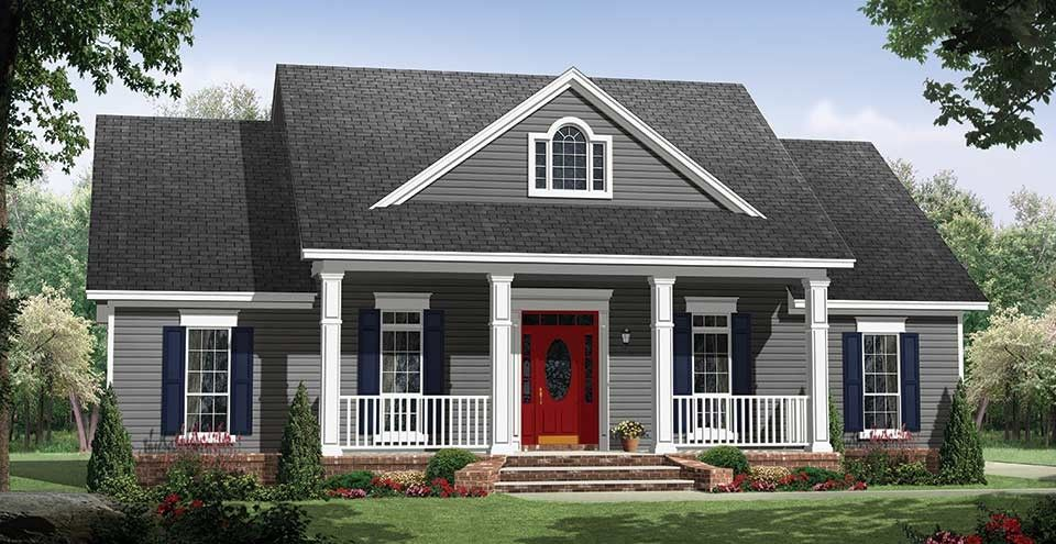 Country Style House Plan 3 Beds 2 Baths 1653 Sq Ft Plan 21 365 Country Style House Plans House Plan Gallery Country House Plans