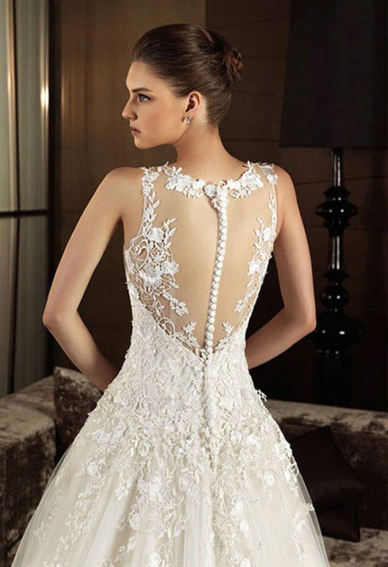 you can easily found the vintage wedding dress with lace as the decoration for the wedding