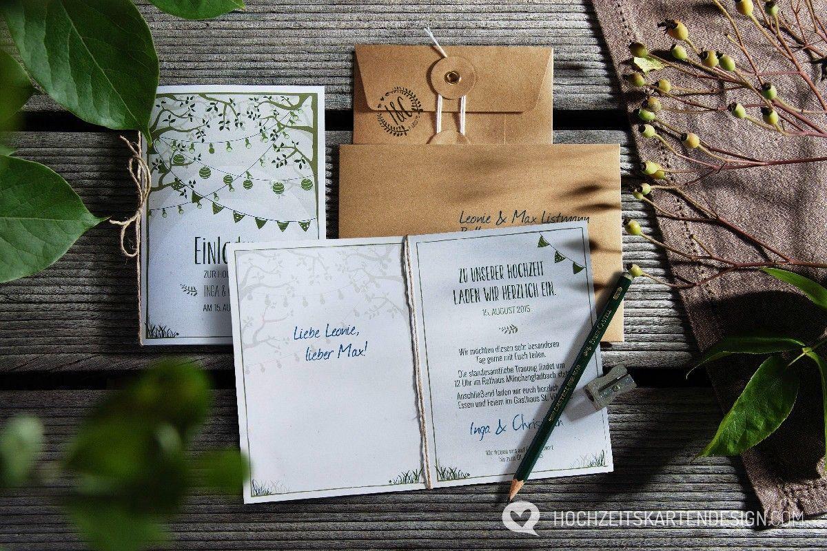 Gartentraum Hochzeitskarten von Designern