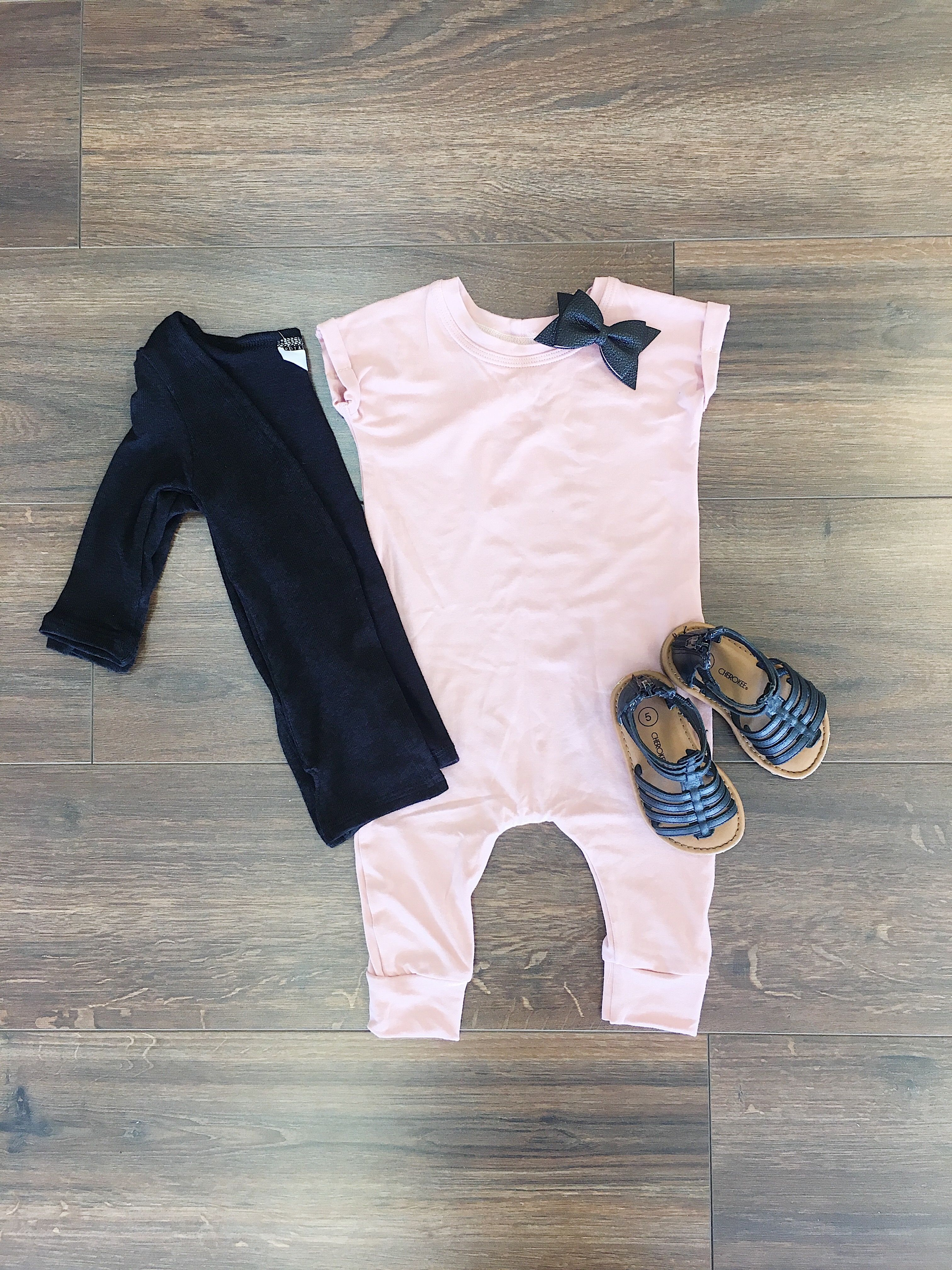 a329df48774 How sweet is this romper for a little girl ! It has a cuffed sleeve and the  baby blush color is too cute!