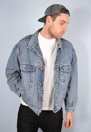 Diesel Mens Vintage Denim Jacket Xl 90 S Messina Hembry Clothing Vintage Denim Jacket Denim Jacket Fashion Vintage Denim