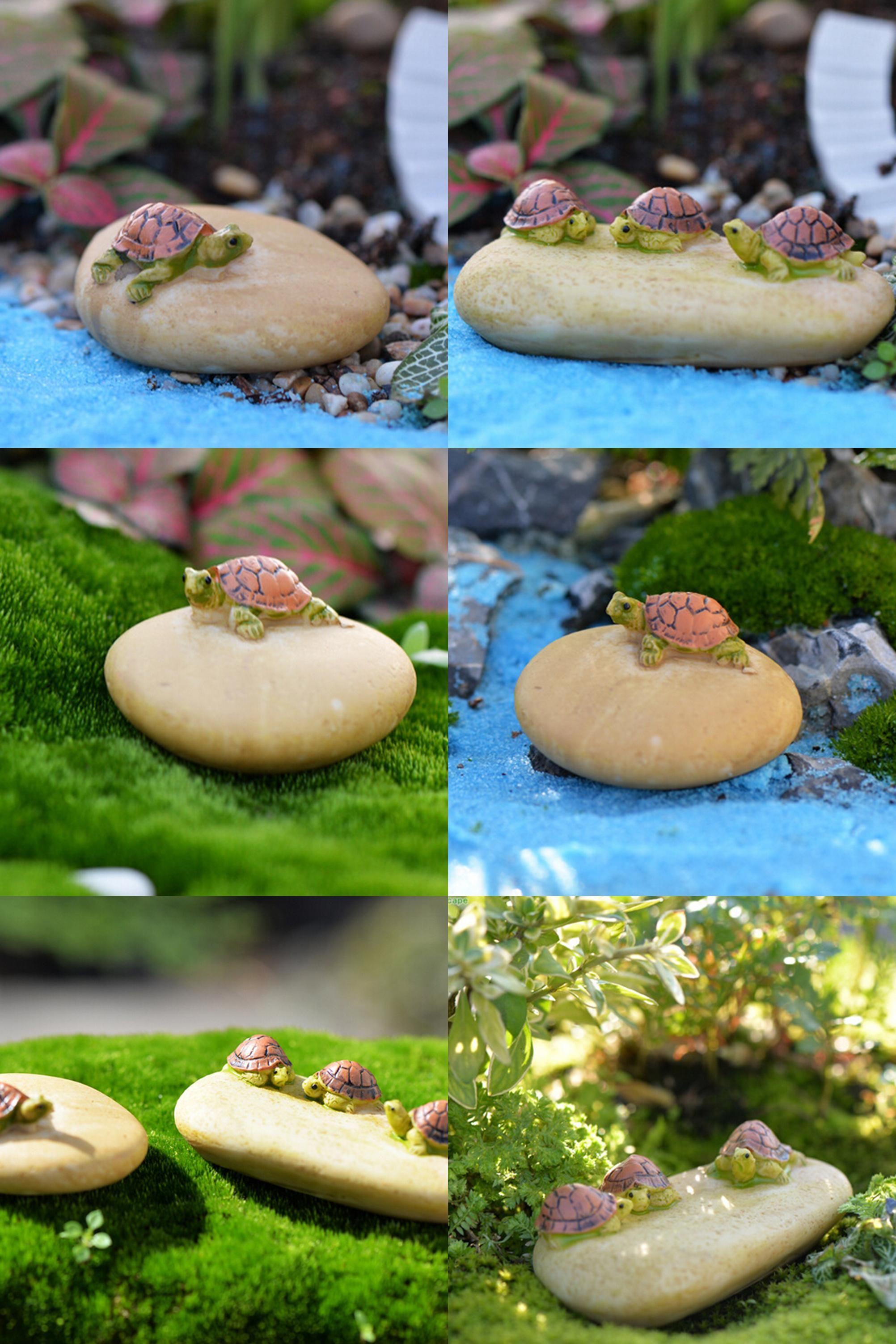 Visit to buy pcs mini turtle tortoise miniature fairy garden