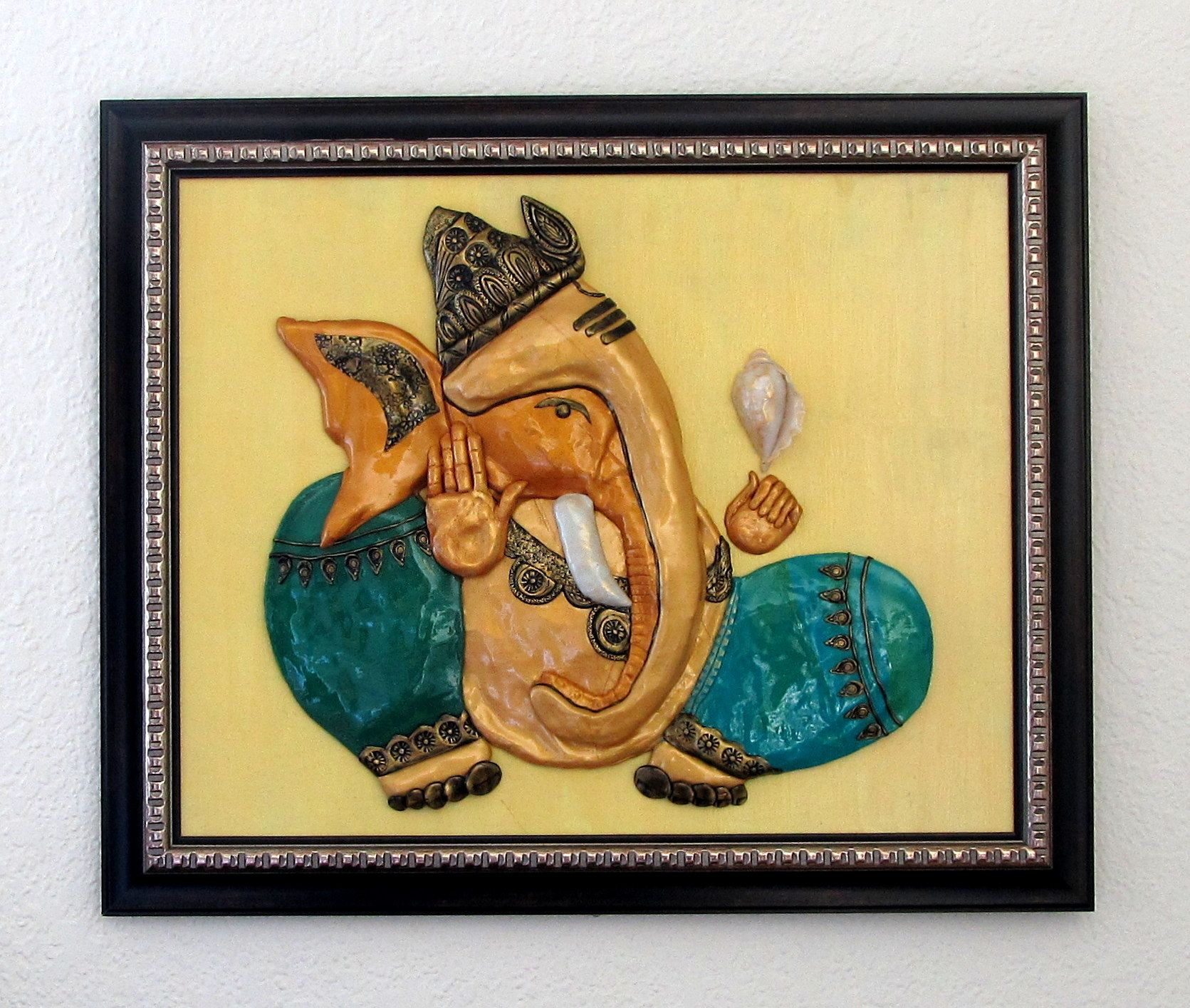Polymer clay wall art - Ganesha | Wall Art | Pinterest | Clay wall ...