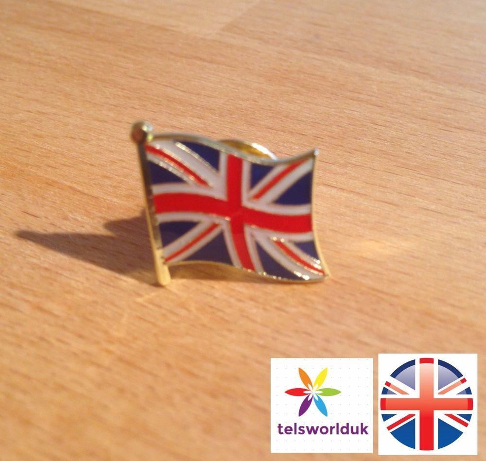 PROUD TO BE BRITISH lapel//hat pin badge BLUE