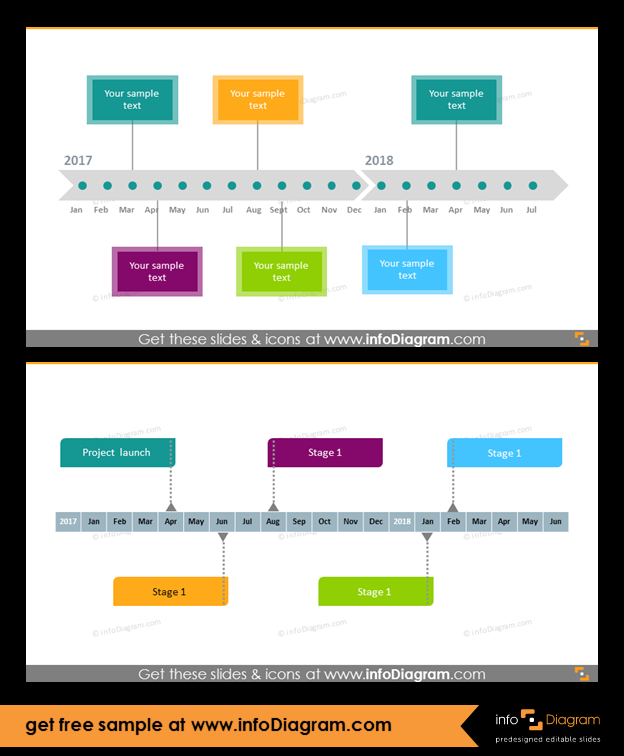 27 roadmap diagram ppt templates for project strategy planning timeline