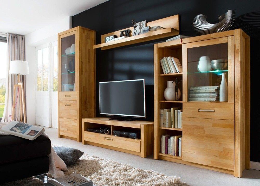 Wohnzimmerschrank Massiv ~ Wohnwand massiv fenja wohnzimmerschrank holz kernbuche 22205. buy