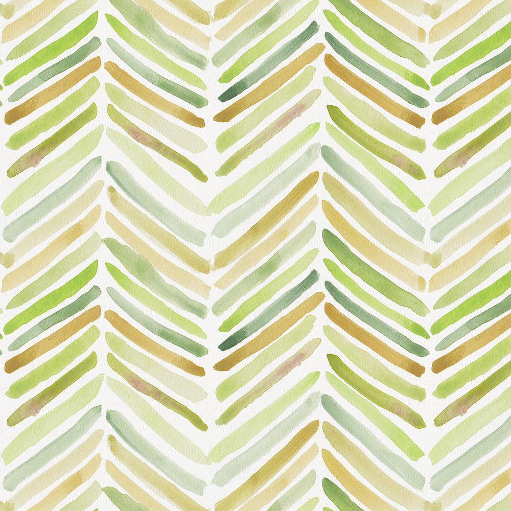 Green Painted Chevron Fabric by the Yard | Chevron fabric, Fabrics ...
