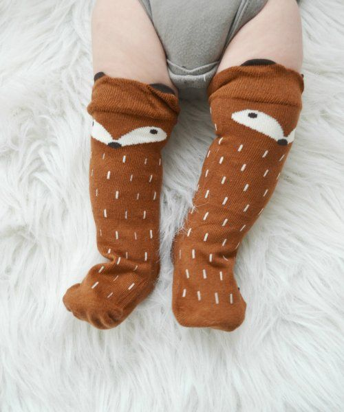 Foxy Socks (Brown)   LadyFish Boutique