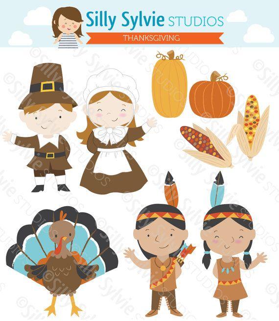 thanksgiving clip art pilgrims turkey native american indians rh pinterest com pilgrim and indian clipart thanksgiving indian clipart