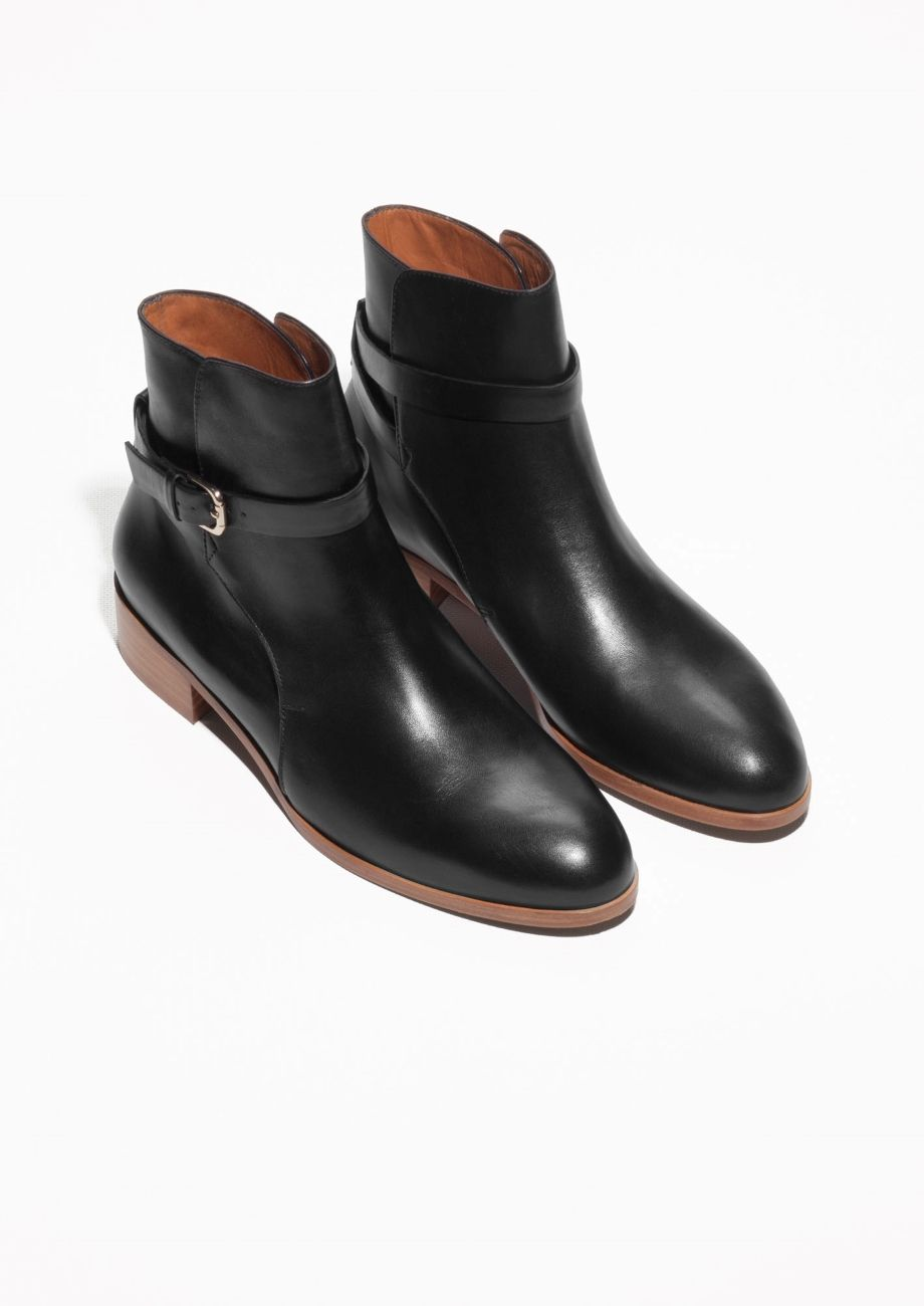 Gucci Leather Jodhpur Boots Sold out Unfortunately, this item will not be back in stock. Under the creative direction of Mr Alessandro Michele, Gucci has introduced an array of symbolic emblems that have become brand signatures - the burnished-gold tiger buckles on these boots represent the legend of Dionysus, the Greek god of revelry.