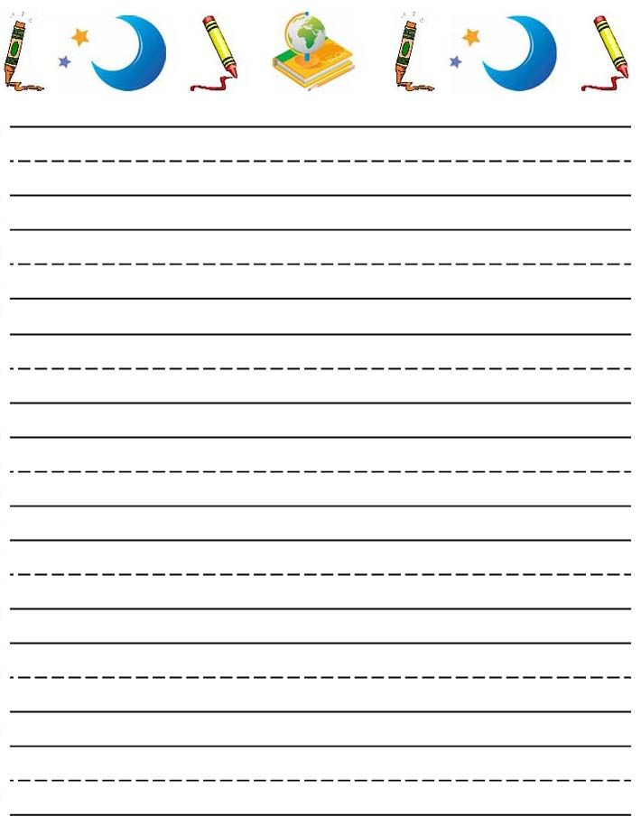 lined paper for writing 2 - Papers For Kids