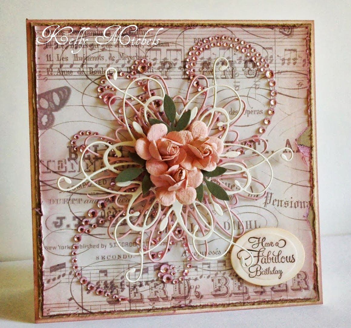 A Hand Craft Victorian Birthday Card For A Very Special Lady Turning 100 Flower Cards Hand Made Greeting Cards Card Art