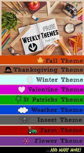 FREE Weekly Themes   123 Homeschool 4 Me