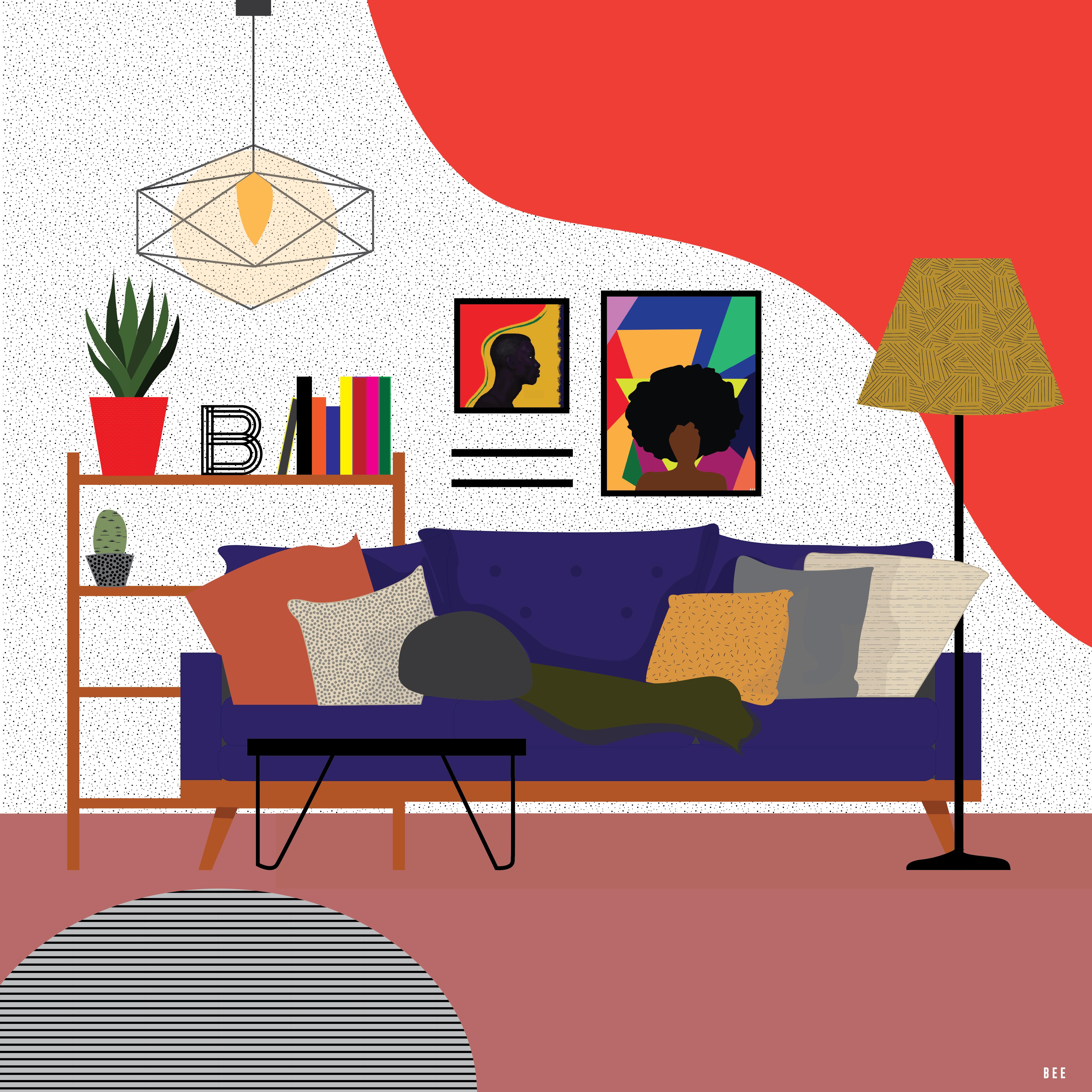 Bee Harris Graphic Design And Illustration Interior Design Art