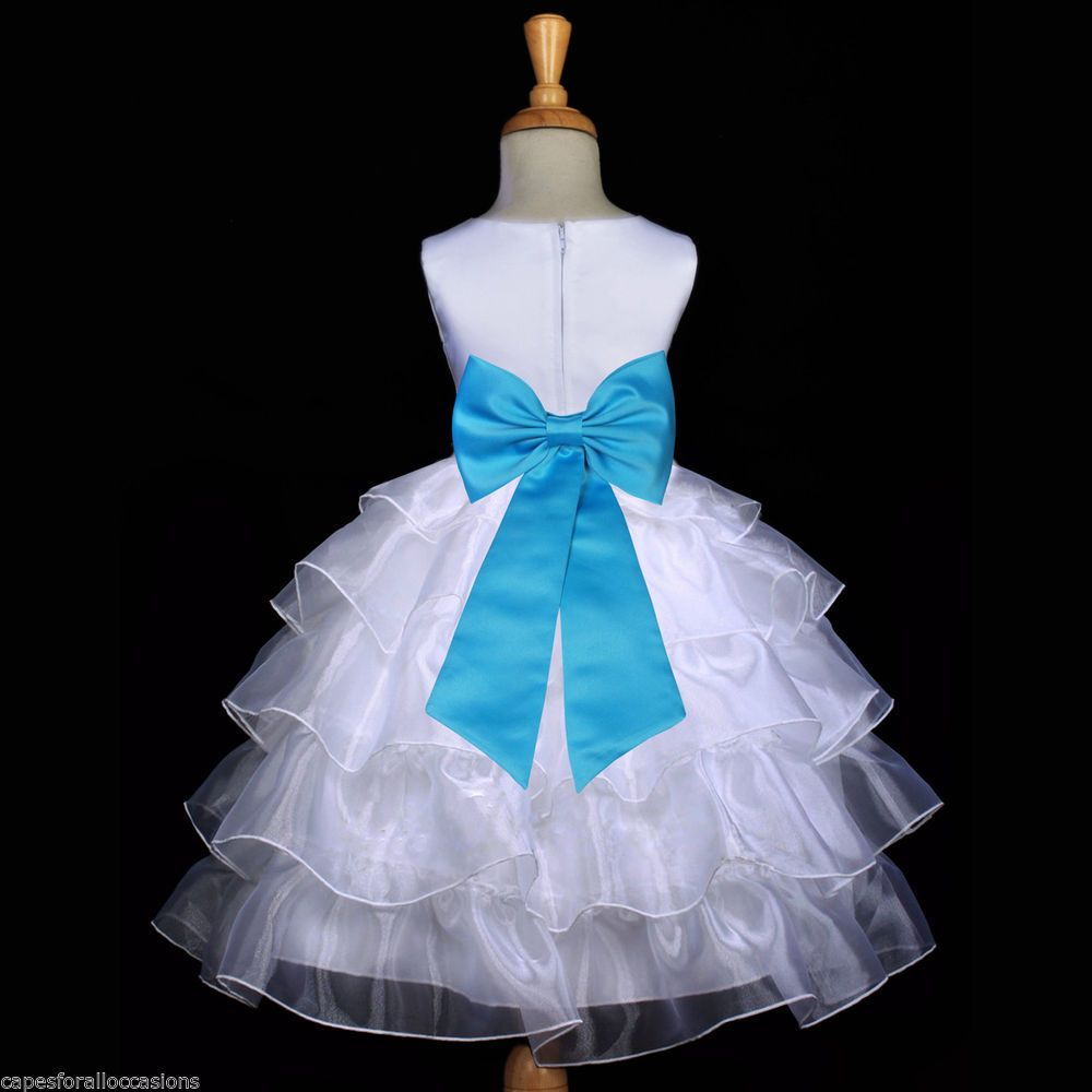 Flower Toddler girl dresses turquoise pictures rare photo