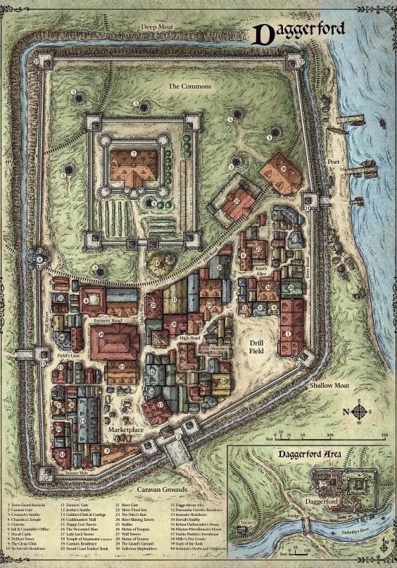 Fantasy City Map, Fantasy Map, Tabletop Rpg Maps