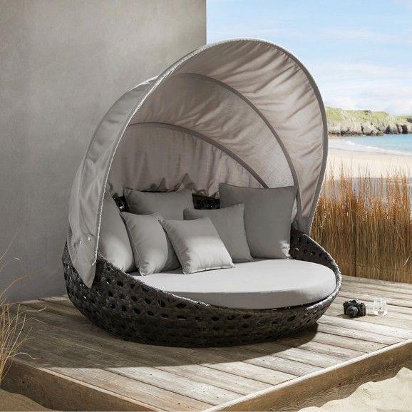 Extravagante Sonneninsel In Dunkelgrau Und Natur Ein Hit Fur Den Sommer Balkon Dekor Chill Lounge Loungeinsel