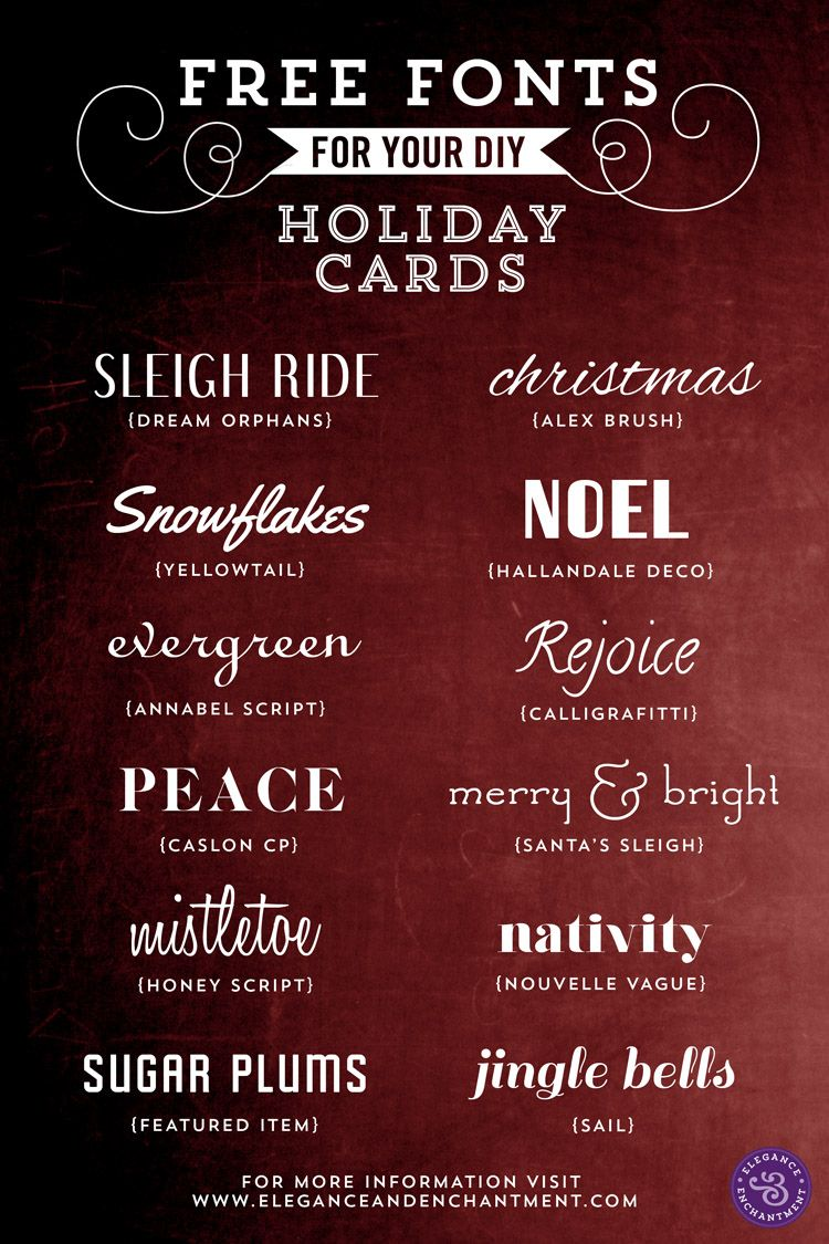 Free Fonts for DIY Holiday Cards | Printables and fonts | Pinterest ...