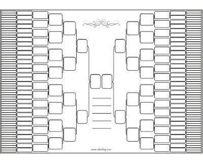 Blank Family Tree Templates to fill in with your Ancestors Data - blank family tree template